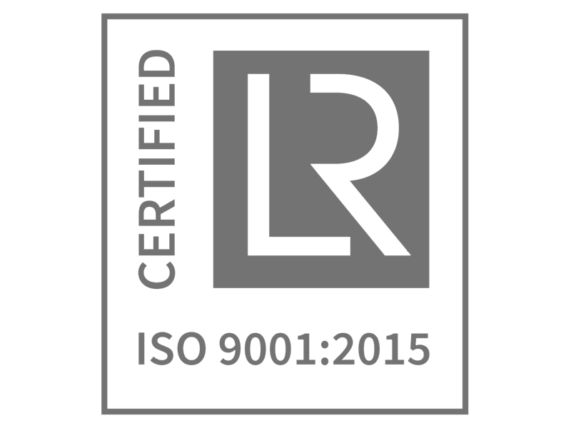 Lloyd's Register ISO 9001:2015 Certified LR Logo